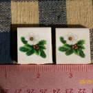 Mosaic Tiles *~XMAS FLOWERS*~2 HM Kiln Fired