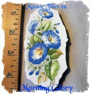 Mosaic Tiles *~MORNING GLORY*~1 LG. HM Kiln Fired