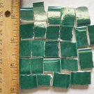 Handpainted*~GLISTEN GREEN  FILLERS~*50 Mosaic Tiles