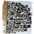 Mosaic Tiles~*EMBOSSED BLACK & WHITE*~75+HM Kiln Fired