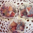 Beautiful~~SET OF BIRDHOUSES ~~3 HM  Mosaic Tiles