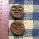 Mosaic Tiles ~*MOCHA FACES*~ 2 HM Clay Kiln Fired