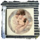 Beautiful~ MOTHER & CHILD #2~HM Lg. Unique Mosaic Tiles