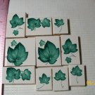 ~~IVY LEAVES ~~10 HM  Mosaic Focal Tiles Kiln Fired
