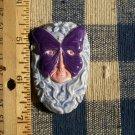 Mosaic Tiles ~*PURPLE BUTTERFLY LADY*~ 1 HM Clay Kiln