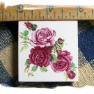 Mosaic Tiles *~WINE ROSE BOUQUET*~1 LG. HM Focal