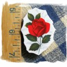 Mosaic Tiles *~BEAUTIFUL RED ROSE*~1 LG. HM Focal
