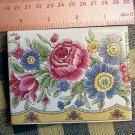 Mosaic Tiles*~ELEGANT ROSE GARDEN *~1 LG. HM Kiln Fired