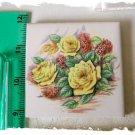 ~Beautiful Focal~ *YELLOW ROSE BOUQUET #2* Mosaic Tiles