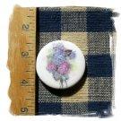 *LILAC BOUQUET* 1 Mosaic Tile -Pendant -Magnet -Pin