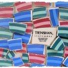 *~RED-GREEN-BLUE STRIPES~* 50 LG. HC China Mosaic Tiles