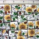 Sunny Mosaic Tile ~~SUNFLOWER CHINTZ~~ 50+ Tiles