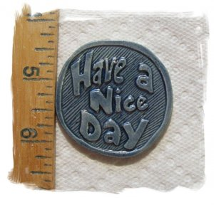 Mosaic Tiles~HAVE A NICE DAY~ Kiln Fired HM Clay