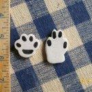 Mosaic Tiles ~SAND BAR DOG PAWS ~ 2  HM Clay Kiln