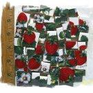 ~*BOLD*~STRAWBERRY CHINTZ~* 50+ Mosaic Tiles -SB4.
