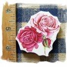Mosaic Tiles *~BEAUTIFUL PINK ROSES *~1 LG. HM Focal