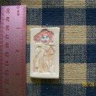 Mosaic Tiles ~*ORANGE DRESS LADY*~ 1 HM Clay Kiln Fired
