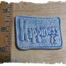 Mosaic Tiles *~L. BLUE HAPPINESS~*1 LG  Kiln Fired