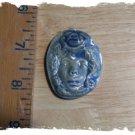Mosaic Tiles *~BLUE ROSE LADY~*1 LG HM Kiln Fired