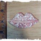 FUN Mosaic Tiles ~*FLOWER LIPS*~1 HM Clay Kiln Fired
