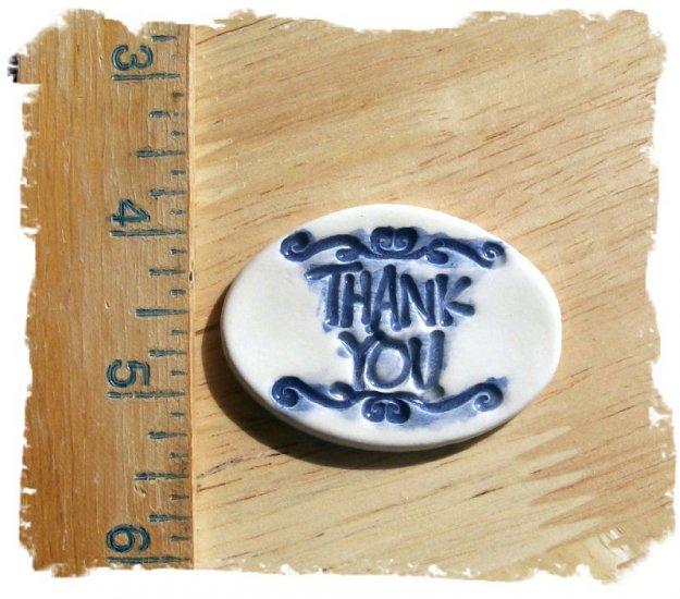 Mosaic Tiles ~*THANK YOU BLUE*~ 1 HM Clay Kiln Fired