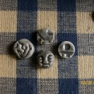 ~*SPIRIT FACE & BEADS~~- 4 HM SOOTY GREY JEWELRY PIECES