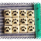 Mosaic Tiles ~A DOZEN DOG PAWS~ 12 HM Focals