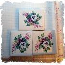 Mosaic Tiles~*PURPLE & WHITE BOUQUETS*~ 3 HM Kiln Fired