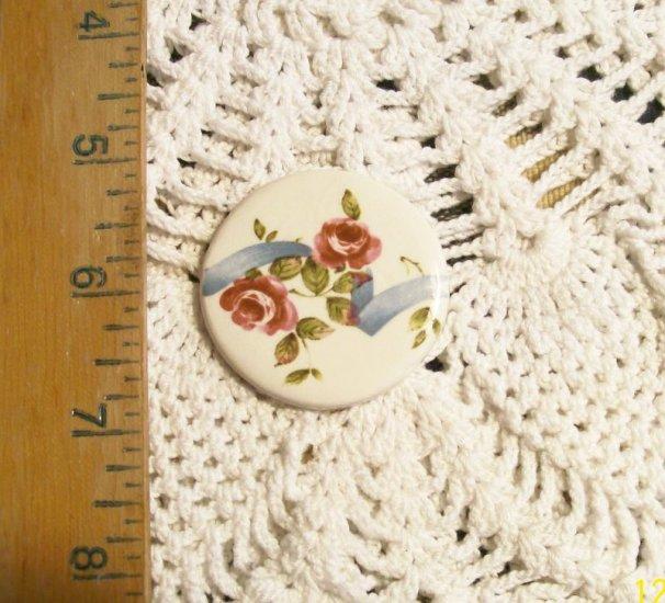 Mosaic Tiles ~RIBBON ROSES ~1 HM Pendant - Pin