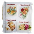 Mosaic Tiles ~BEAUTIFUL YELLOW ROSE FOCAL~ 1 Lg. Tile