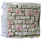 *PASTEL PINK FLORAL CHINTZ*~ 50+ Mosaic Tiles FREE SHIP