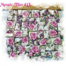 Gorgeous ~ *LILACS & PINK ROSES~  CHINTZ* ~Mosaic Tiles