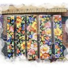 *~SUMMER FLOWER CHINTZ~* 5 U-Cut-2-Fit Mosaic Tiles