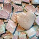 *~SHABBY PINK EMBOSSED LACE~* 75+ HM HC Mosaic Tiles