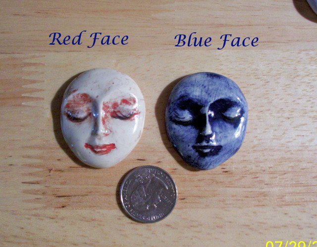 1 Pottery Embellishment*~LG LADY FACE PENDANT~*U-choose