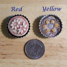 1 Pottery Embellishment *~BOTTLE CAP FLOWER PENDANT~*