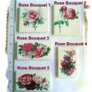 Mosaic Tiles ~ELEGANT ROSE BOUQUETS~ 1 Lg. Focal Tile