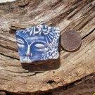 HM Pottery Ceramic *~BLUE  & WHITE MOD FACE~* Pendant
