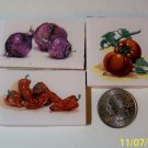 4 Mosaic Tiles ~*DELICIIOUS VEGGIES*~ FOCALS*~