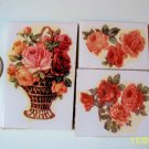 3 Mosaic Tiles ~*BASKET OF ROSES*~ FOCALS*~