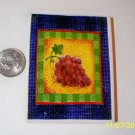 Mosaic Tiles  *~PURPLE GRAPE FOCAL~* 1 LG HM Fired