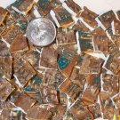 Mosaic Tiles~BROWN & TURQUOISE~123 Embossed Clay Filler