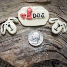 3 Pottery Embellishment~*I LOVE THAT DOG*~ Mosaic Tiles