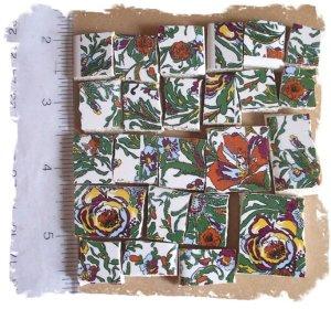 Jungle Tiles ~~RAIN FOREST CHINTZ ~~ 50+ Mosaic Tiles