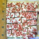 ~Delicate  *~*PINK ROSE CHINTZ*~*  50+  Mosaic Tiles