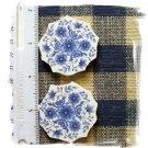 Mosaic Tiles ~*BLUE FLORALS*~2 FOCALS*~Kiln Fired
