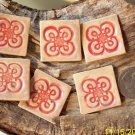 Mosaic Tiles~EMBOSSED CELTIC TILES~6 Kiln Fired HM Clay