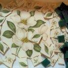 Broken China~MAGNOLIA FOCAL+Stnd Glass~100 Mosaic Tiles