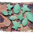 HANDMADE POTTERY*~ART LEAVES+~ Mosaic Embellishments