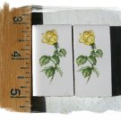 Mosaic Tiles *~LONG STEM YELLOW ROSES~* 2 LG HM Kiln
